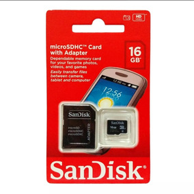 Cartão De Memória Sandisk 16 Gb