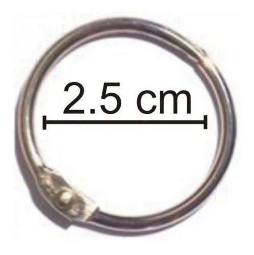 Imagem 1 de 1 de 2 Pacotes Argola Articulada 2,5cm Total 20 Unidades Álbuns