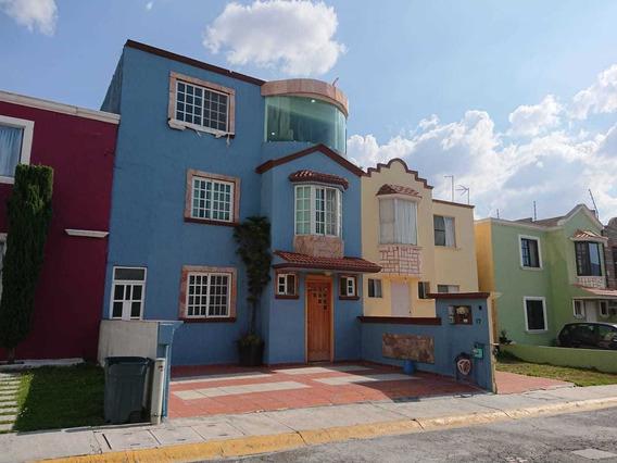 Casa En Renta De 3 Niveles En Privada En Claustros De San Miguel, Cuautitlán