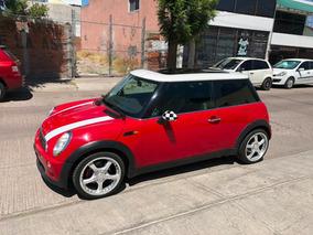 Mini Cooper 1.6 Pepper 5vel Aa Piel Qc Mt 2003 Rojo!!