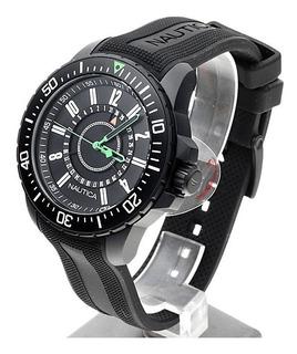 Excelente Reloj Deportivo Náutica, Sumergible, Acero Negro.