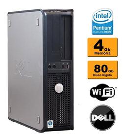 Cpu Pc Dell Optiplex Core 2 Duo 4gb Hd 80gb Wifi Garantia