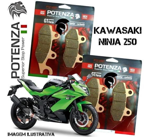 Kit Pastilhas Freio Potenza Ninja 300 2x165