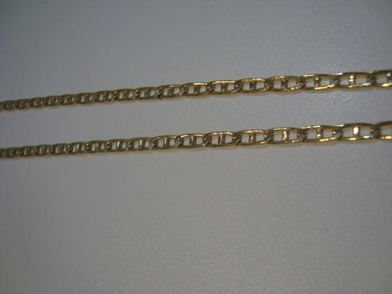 Corrente, Folheada Em Ouro, Com 70cm Centímetros.