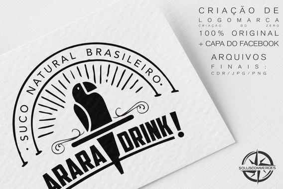 Criar Logomarca Logotipo Profissional + Capa Do Facebook