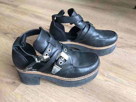 Zapatos Americanino Cuero Plataformas
