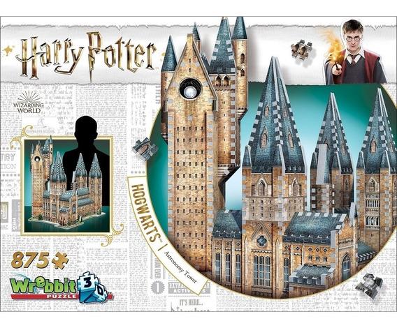 Harry Potter Puzzle 3d 875 Pçs Hogwarts Torre De Astronomia