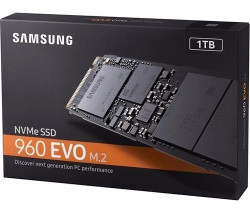 Ssd M.2 1tb Samsung 960 Evo 1000gb Nvme Leitura 3200 Mbps