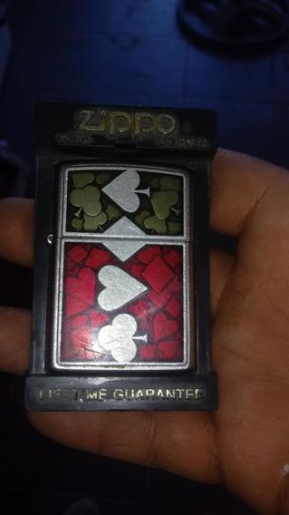 Encendedor Zippo Poker Exelente Estado $2300