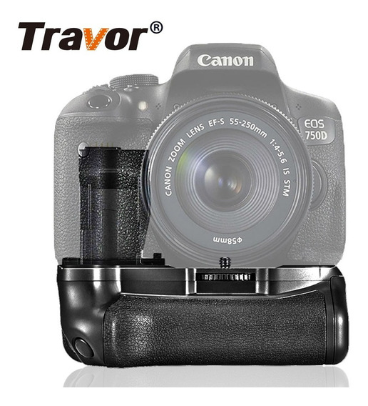 Grip Camera Canon 750d 760d Rebel T6i 8000d Travor Premium