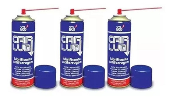 Kit C/3 Carlub Lubrificante Antiferrugem Multiuso 300ml