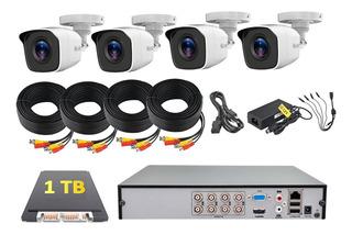 Kit Cctv Dvr 8 Canales - 4 Cámaras Hd 720p Hikvision 1 Tb
