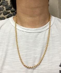 Corrente Colar Ouro 18k (malha Corda Ou Baiano)