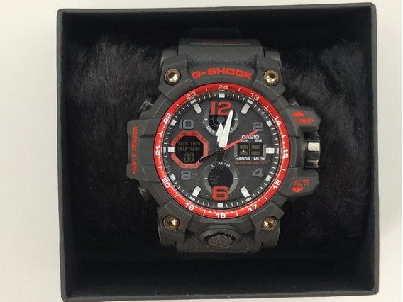 Relógio Preto Com Vermelho Modelo Mudmaster G-shock