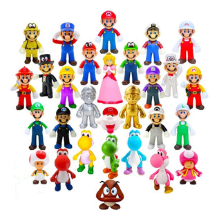 Figuras Super Mario Bros Luigi Yoshi Y Sus Amigos 13 Cm C/u