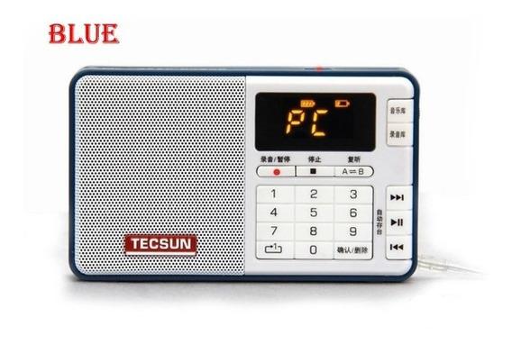 Rádio Tecsun Q3 Gravador Audio Digital Fm76-108 Cor Preto