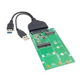 Cablecc Usb 3.0 A Sata 22pin 2.5 Disco Duro A 2 En 1 Combo M