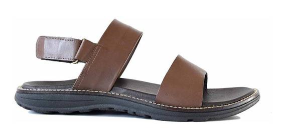 Sandalia Cuero Hombre Briganti Zapato Confort Goma Hcsd01319