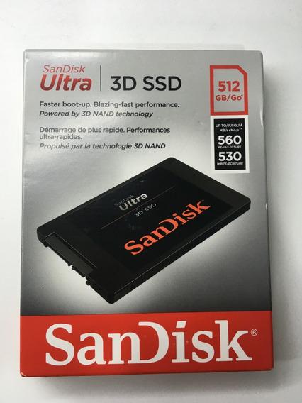Hd Ssd Sandisk 512gb Ultra 3d Nand Sata Iii