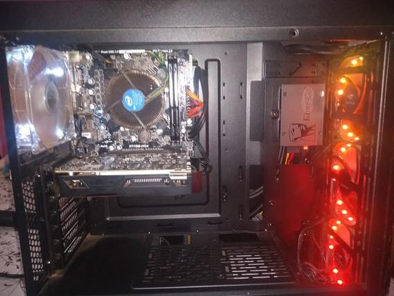 Cpu + Monitor 16 I3 7100, Gtx 1050 2gb Ssd 120gb Hd 1tb Usad