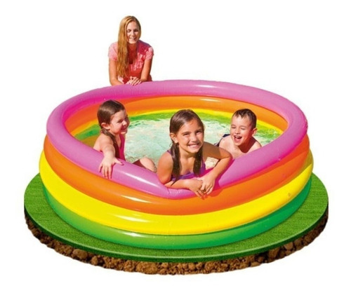 Piscina Inflable Tricolor Intex 168cm X 46xcm Envio Gratis