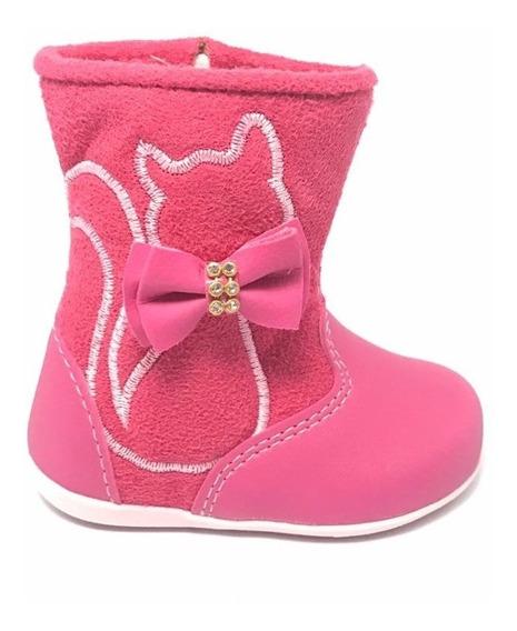 Bota Infantil Baby Dkarini Pink 1661 Do 15 Ao 22 Lançamento
