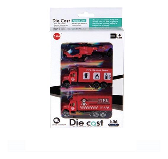 Set Tres Vehiculos Emergencias Coleccionables Die Cast Full