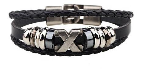Pulseira Masculina Couro Moderna - Bracelete Importado