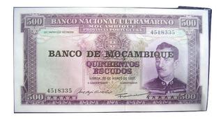 Billete Mozambique + Fascículo Con Ficha Informativa 500 Esc
