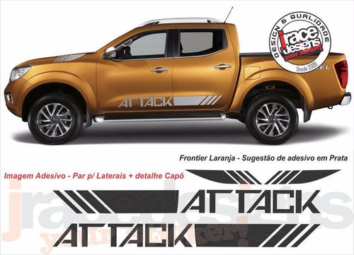Imagem 1 de 3 de Kit Adesivo Nissan Attack Nova Frontier 2017 / 18 Top