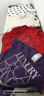 Lote De Playeras Y Una Camiseta Zara Todo Original 5 Piez