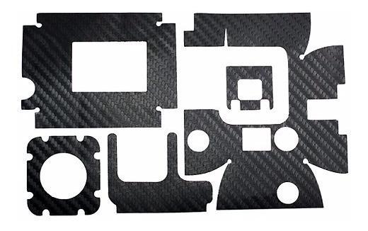 Película Proteção Carbono P/ Capa Caixa Gopro Hero 1 2 3 3+4