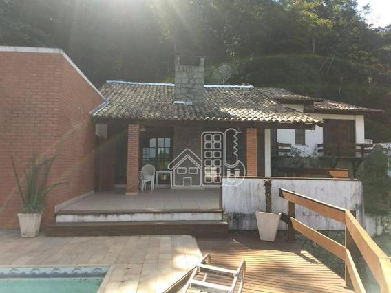 Casa Com 4 Dormitórios À Venda, 380 M² Por R$ 900.000 - Itaipu - Niterói/rj - Ca0954