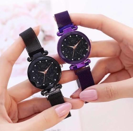 Relógio Feminino Strass Pulseira Magnetica