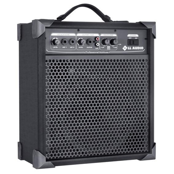 Caixa Amplificada Multiuso Ll Audio Lx60 15w Guitarra Mic