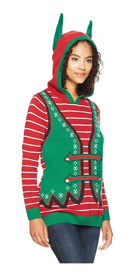 Suéter Navidad Mujer Xmas Ugly Sweater Elfo Xl