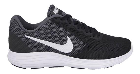 Nike Revolution 3 Negro Blanco Dama Running 819300-001