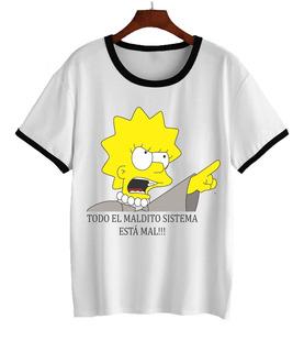 Remera Simpson Lisa Feminista Homero Bart Dama 3