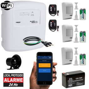 Kit Alarme Wifi Internet Sem Fio 3 Sensores Presença + App