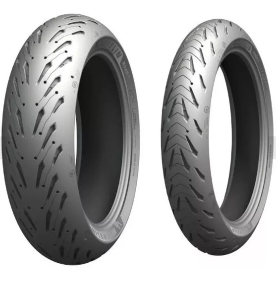 Par Pneu Michelin 190/55-17 + 120/70-17 Road 5 Pronta Entrega