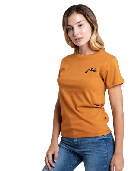 Remera Mujer Rusty Competition Mostaza