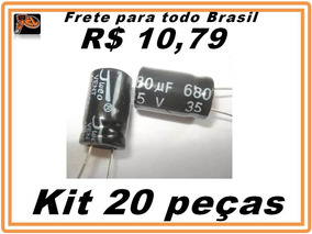 Capacitor Eletrolítico 680uf X 35v Kit 20 Peças