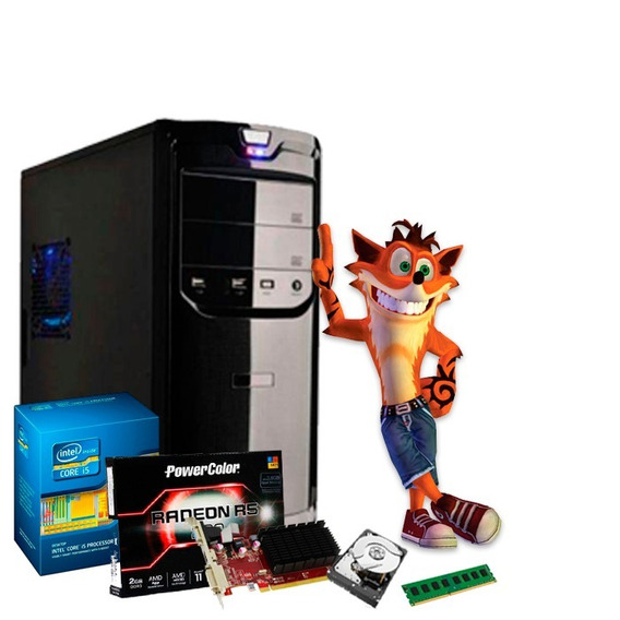 Pc Gamer I5 3.4 Ghz, Radeon R5 230 2gb, 8gb, Hd 500 + Nfe