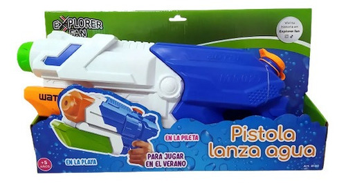 Juguete Pistola De Agua Explorer Fun Compresion De Aire Prom