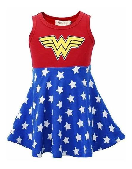 Vestido Superhéroe Chica+moño Combinable.