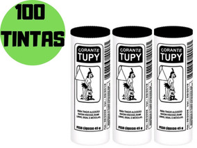 100 Tinta Corante De Roupas Tupy Preto 45g Atacado Revenda