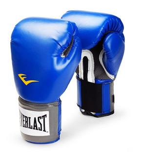 Combo Guantes Box + Par De Vendas Everlast Pro Style Azul Baires Deportes Distr Oficial Local En Oeste Gran Bs As