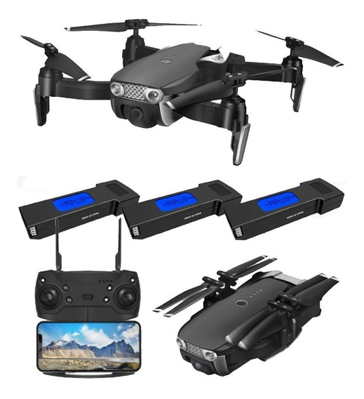 Drone Gps E511s Câmera Full Hd 1080p, 3 Baterias Mavic Air