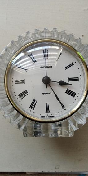 Reloj De Mesa Staiger Alemán Base Cristal Hecha En Francia