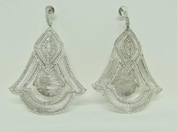 Glitter Joias - Brincos Vivara Fios De Ouro E 376 Diamantes!